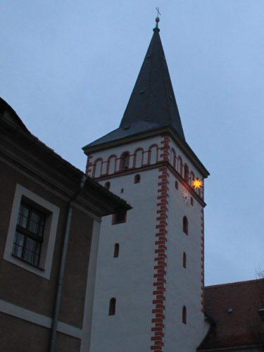 Kirchturm Kodersdorf mit Stern